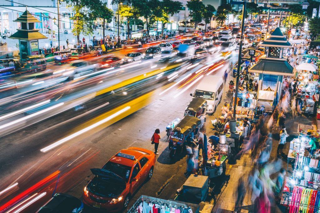 Thailand Bangkok Vervoer Verkeer