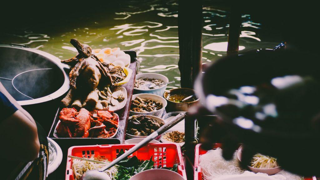 Damnoen Saduak Drijvende Markt Bangkok Thailand
